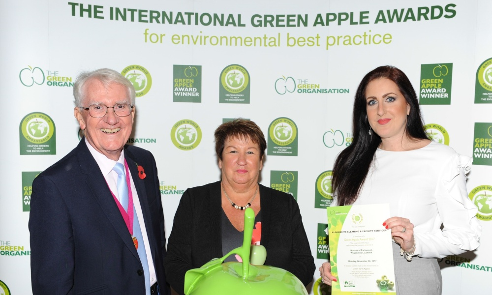 FLOORBRITE Nina Wyers and Trudie Williams at the houses of parliament for the green apple awards 17.jpg